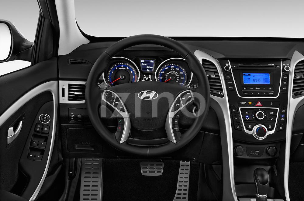 Car pictures of steering wheel view of a 2016 Hyundai Elantra Gt 5 Door Hatchback