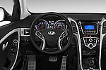 Car pictures of steering wheel view of a 2017 Hyundai Elantra Gt 5 Door Hatchback