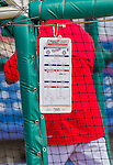 5 March 2015: The Washington Nationals Coaching Batting Practice Schedule hangs from the batting cage prior to a Spring Training game against the New York Mets at Space Coast Stadium in Viera, Florida. The Nationals rallied to defeat the Mets 5-4 in Grapefruit League play. Mandatory Credit: Ed Wolfstein Photo *** RAW (NEF) Image File Available ***