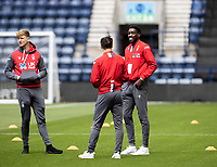 Nottingham Forest's Sammy Ameobi (right) is all smiles inspecting the pitch before the match <br /> <br /> Photographer Andrew Kearns/CameraSport<br /> <br /> The EFL Sky Bet Championship - Preston North End v Nottingham Forest - Saturday 11th July 2020 - Deepdale Stadium - Preston <br /> <br /> World Copyright © 2020 CameraSport. All rights reserved. 43 Linden Ave. Countesthorpe. Leicester. England. LE8 5PG - Tel: +44 (0) 116 277 4147 - admin@camerasport.com - www.camerasport.com