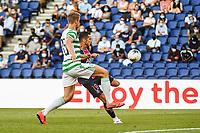 21st July 2020, Parc de Princes, Paris, France; Friendly club football, PSG versus Celtic;  Pablo SARABIA of PSG shoots and scores his goal during the Friendly match