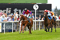 Winner of The British Stallion Studs EBF Margadale Fillies' Handicap Burgonet ridden by Franny Norton and trained by Mark Johnston during Afternoon Racing at Salisbury Racecourse on 12th June 2018