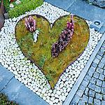 Herz, heart, Friedhof, Mauren, Rheintal, Rhine-valley, Liechtenstein.
