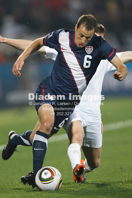 RUSTENBURG, SOUTH AFRICA - JUNE 12:  Steve Cherundolo of the United States in action during a 2010 FIFA World Cup soccer match against England June 12, 2010 in Rustenburg, South Africa.  NO mobile use.  Editorial ONLY. (Photograph by Jonathan P. Larsen)
