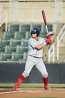 Rafael Marchan (13) of the Lakewood BlueClaws at bat against the Kannapolis Intimidators at Kannapolis Intimidators Stadium on July 18, 2019 in Kannapolis, North Carolina. The Intimidators defeated the BlueClaws 7-1. (Brian Westerholt/Four Seam Images)