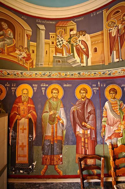 Aegina; church; Greek; Orthodox; Argosaroni; port; Saronic; Islands; Greece; historic; ancient; Photo; Byzantine; architectures