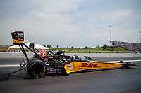 Jun 9, 2019; Topeka, KS, USA; NHRA top fuel driver Richie Crampton during the Heartland Nationals at Heartland Motorsports Park. Mandatory Credit: Mark J. Rebilas-USA TODAY Sports