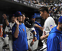 Daisuke Matsuzaka (Mets),<br /> AUGUST 28, 2013 - MLB :<br /> Daisuke Matsuzaka of the New York Mets is congratulated by his teammates back in the dugout after hitting a single in the third inning during the Major League Baseball game against the Philadelphia Phillies at Citi Field in Flushing, New York, United States. (Photo by AFLO)