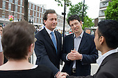 Conservative MP Nick Hurd, newly appointed Minister for Civil Society, visits projects in Church Street, London,  supported by the Paddington Development Trust.