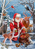 Marcello, CHRISTMAS ANIMALS, WEIHNACHTEN TIERE, NAVIDAD ANIMALES,Santa,deer, paintings+++++,ITMCXM2160,#xa#