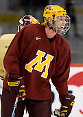 Ryan Stoa (Minnesota 29) takes part in the Gophers' morning skate at the Xcel Energy Center in St. Paul, Minnesota, on Friday, October 12, 2007, during the Ice Breaker Invitational.