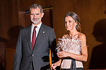 King Felipe VI and Queen Letizia of Spain during the Princess of Asturias Awards concert in Oviedo . October 17, 2019.. (ALTERPHOTOS/ Francis Gonzalez)