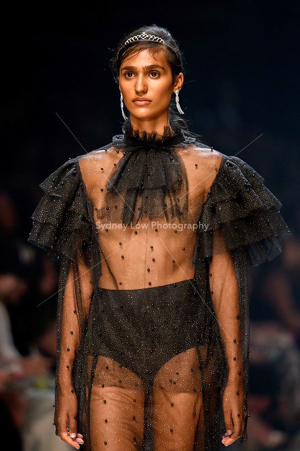 7 March 2018, Melbourne - Models showcase designs by Macgraw during the Runway 3 show presented by Harper's Bazaar at the 2018 Virgin Australia Melbourne Fashion Festival in Melbourne, Australia. (Photo Sydney Low / asteriskimages.com)