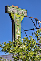 Sign for the Grand Canyon Cafe in Flagstaff Arizona on Route 66.