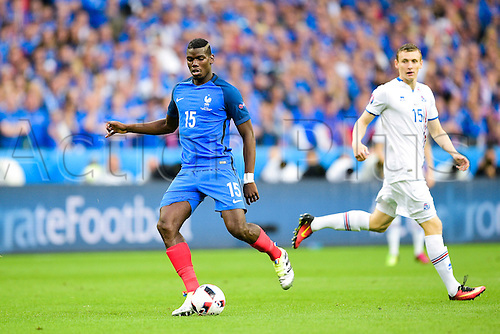03.07.2016. St Denis, Paris, France. UEFA EURO 2016 quarter final match between France and Iceland at the Stade de France in Saint-Denis, France, 03 July 2016. Paul Pogba (France)