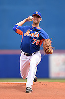 New York Mets pitcher Cory Mazzoni (75) during a spring training game against the Washington Nationals on March 27, 2014 at Tradition Field in St. Lucie, Florida.  Washington defeated New York 4-0.  (Mike Janes/Four Seam Images)