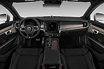 Stock photo of straight dashboard view of a 2018 Volvo V90 R-Design AWD T6  5 Door Wagon