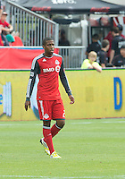 15 September 2012: Toronto FC defender Jeremy Hall #25 in action during an MLS game between the Philadelphia Union and Toronto FC at BMO Field in Toronto, Ontario..The game ended in a 1-1 draw..