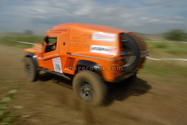 Tomcat Land Rover racing at the Rallye Dresden Breslau 2007. --- No releases available. Automotive trademarks are the property of the trademark holder, authorization may be needed for some uses.