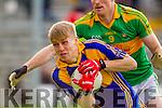 Brendan O'Sullivan South Kerry in Action against Killian Spillane Kenmare in the County Senior Football Semi Final at Fitzgerald Stadium Killarney on Sunday.