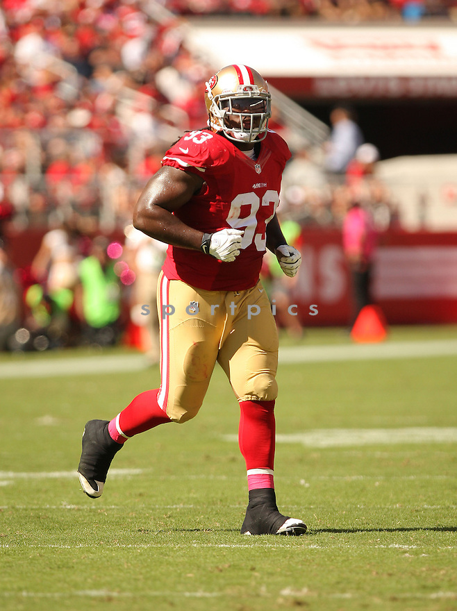 San Francisco 49ers Ian Williams (93) during a game against the Kansas City Chiefs on October 5, 2014 at Levi's Stadium in Santa Clara, CA. the 49ers beat the Chiefs 22-17.