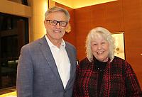 NWA Democrat-Gazette/CARIN SCHOPPMEYER Dr. Steve Goss, Mercy Hospital Northwest Arkansas Clinics president visits with Karen Inlow at the Patrons Party.