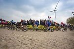 Action from the 117th edition of Paris-Roubaix 2019, running 257km from Compiegne to Roubaix, France. 14th April 2019<br /> Picture: Thomas van Bracht/PelotonPhotos.com | Cyclefile<br /> All photos usage must carry mandatory copyright credit (&copy; Cyclefile | Thomas van Bracht/PelotonPhotos.com)