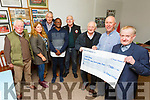 Sean Daly from Blennerville, receiving a cheque of €7,700 from St Pats Blennerville GAA Club<br /> Front l to r: Christy Murphy, Sean Daly and Jimmy Savage.<br /> Back l to r: Jim Moriarty, Marie Fitzgibbon (Sec), Dipo Dairo (PRO), Jimmy Muligan (Chairman) and Tadgh O'Halloran.