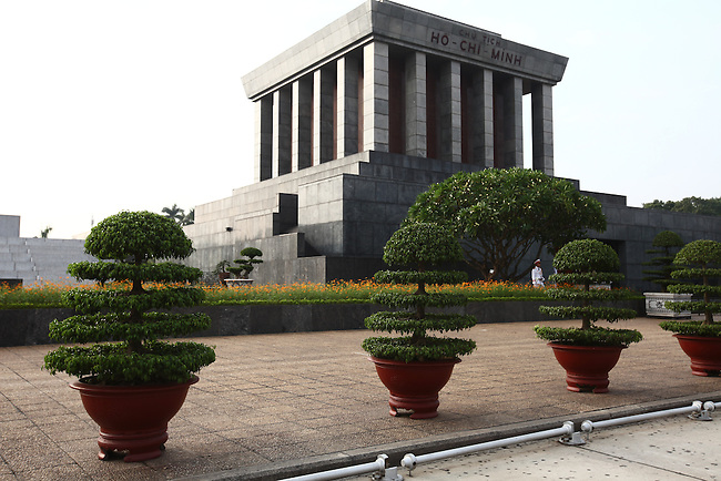 The Ho Chi Minh Mausoleum in Hanoi, Vietnam marks the spot where Ho declared Vietnamese independence on Sept. 1, 1945. Normally packed with visitors, the shrine is closed for several months every autumn as Ho's embalmed body undergoes treatment by preservation specialists. Oct. 24, 2012.