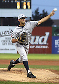 July 10, 2003:  Pitcher Chase Wright of the Staten Island Yankees, Class-A affiliate of the New York Yankees, during a NY-Penn League game at Dwyer Stadium in Batavia, NY.  Photo by:  Mike Janes/Four Seam Images