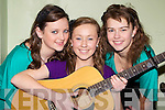 Jennifer Murphy, Emma O'Shea and Amy Fitzgerald Caherciveen who performed at the Youth Work Ireland Variety show in Killorglin CYMS on Saturday