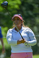 Lizette Salas (USA) watches her tee shot on 14 during round 2 of the 2018 KPMG Women's PGA Championship, Kemper Lakes Golf Club, at Kildeer, Illinois, USA. 6/29/2018.<br /> Picture: Golffile | Ken Murray<br /> <br /> All photo usage must carry mandatory copyright credit (© Golffile | Ken Murray)