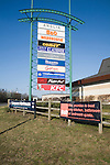 Anglia retail park sign, Ipswich, Suffolk, England