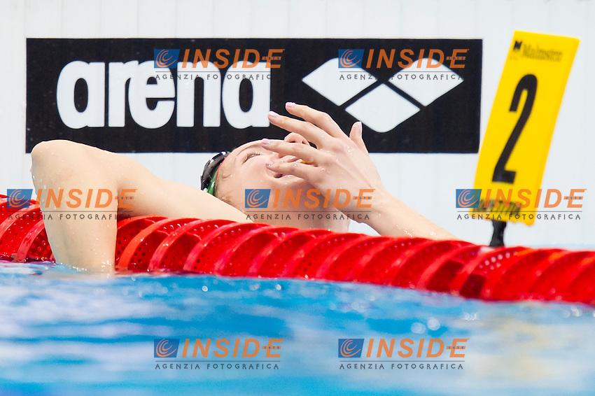 KAPAS Boglarka HUN gold medal<br /> London, Queen Elizabeth II Olympic Park Pool <br /> LEN 2016 European Aquatics Elite Championships <br /> Swimming<br /> Women's 400m freestyle final<br /> Day 14 22-05-2016<br /> Photo Giorgio Perottino/Deepbluemedia/Insidefoto