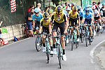 Team Jumbo-Visma on the front of the peloton during Stage 12 of La Vuelta 2019 running 171.4km from Circuito de Navarra to Bilbao, Spain. 5th September 2019.<br /> Picture: Luis Angel Gomez/Photogomezsport | Cyclefile<br /> <br /> All photos usage must carry mandatory copyright credit (© Cyclefile | Luis Angel Gomez/Photogomezsport)