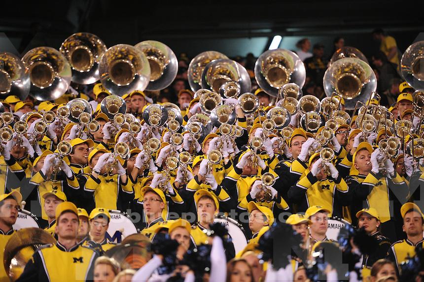 The University of Michigan football team falls to Kansas State, 31-14, in the Buffalo Wild Wings Bowl at Sun Devil Stadium in Tempe, Arizona on December 28, 2013.