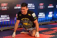 BARUERI, SP, 07.10.2013 - TREINO UFC/BARUERI - lutador Demian Maia durante treino no UFC Fight no combate 29 na tarde desta segunda-feira, 07 no ginasio Jose Correa em Barueri. (Foto: Adriana Spaca / Brazil Photo Press).