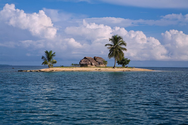 A small island in the San Blas Islands archipelago, Kuna Yala, Panama