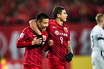 Shanghai FC Forward Wu Lei (L) celebrating his goal with his teammate Elkeson De Oliveira Cardoso (R) during the AFC Champions League 2017 Group F match between Shanghai SIPG FC (CHN) vs Western Sydney Wanderers (AUS) at the Shanghai Stadium on 28 February 2017 in Shanghai, China. Photo by Marcio Rodrigo Machado / Power Sport Images