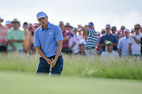 Jordan Spieth (USA) watches his putt on 11 during Thursday's round 1 of the 117th U.S. Open, at Erin Hills, Erin, Wisconsin. 6/15/2017.<br /> Picture: Golffile | Ken Murray<br /> <br /> <br /> All photo usage must carry mandatory copyright credit (&copy; Golffile | Ken Murray)