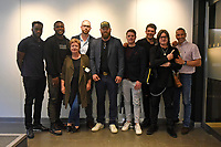 From left: Denzel Bentey, Viddal Riley, Geraldine Davies, Daniel Glynn (producer), Scott Welch, Mat Hodgson (director), James Branch, Gareth A Davies and Martin Bowers during the 'I Am Duran' Film Screening at Universal Pictures on 23rd May 2019