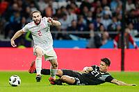 Spain's Daniel Carvajal (l) and Argentina's Maximiliano Meza during international friendly match. March 27,2018. *** Local Caption *** © pixathlon<br /> Contact: +49-40-22 63 02 60 , info@pixathlon.de