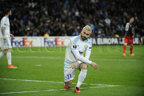 18.02.2016. Marseille, France. UEFA Europa league football. Marseille versus Athletic Bilbao.  Alessandrini (OM) does not get the decision wanted