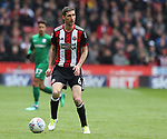 Chris Basham of Sheffield Utd during the championship match at the Bramall Lane Stadium, Sheffield. Picture date 28th April 2018. Picture credit should read: Simon Bellis/Sportimage
