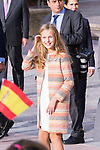 Princess of Asturias Leonor during the arrival to Oviedo because of the Princess of Asturias Awards 2019 . October 17, 2019.. (ALTERPHOTOS/ Francis Gonzalez)