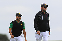 Abraham Ancer (International) and Marc Leishman on the 2nd fairway during the Second Round - Foursomes of the Presidents Cup 2019, Royal Melbourne Golf Club, Melbourne, Victoria, Australia. 13/12/2019.<br /> Picture Thos Caffrey / Golffile.ie<br /> <br /> All photo usage must carry mandatory copyright credit (© Golffile | Thos Caffrey)