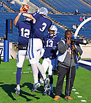 November 2nd, 2019: Yale scores and celebrates along with a photographer as the Bulldogs up their record to 6-1 defeating the Columbia Lions 45-10 in Ivy League football.  The game was held at the Yale Bowl in New Haven, Connecticut. Heary/Eclipse Sportswire/CSM