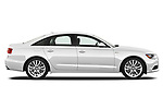 Car driver side profile view of a 2012-2014 Audi A6  Premium Plus 4 Door Sedan