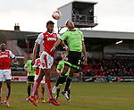 Victor Nirennold of Fleetwood Town tussles with Alex Baptiste of Sheffield Utd - English League One - Fleetwood Town vs Sheffield Utd - Highbury Stadium - Fleetwood - England - 5rd March 2016 - Picture Simon Bellis/Sportimage