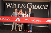 "Eric McCormack, Debra Messing, Megan Mullally, Sean Hayes<br /> at the ""Will & Grace"" Start of Production Kick Off Event, Universal Studios, Universal City, CA 08-02-17<br /> David Edwards/DailyCeleb.com 818-249-4998"